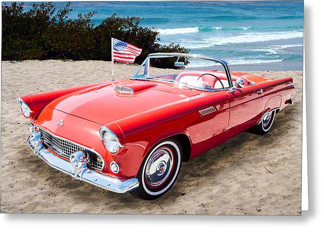 1955 Thunderbird Photograph Fine Art Prints 1246.02 Greeting Card by M K  Miller