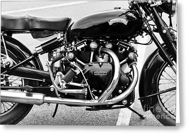 1955 Vincent Black Shadow Series C Greeting Card by Tim Gainey