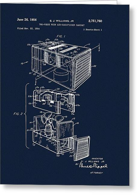 1956 Air Conditioner Patent Greeting Card by Dan Sproul