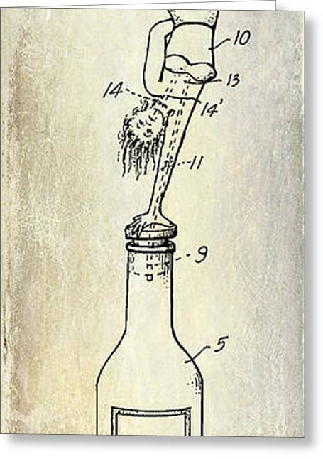 1956 Bottle Stopper Patent Greeting Card by Jon Neidert