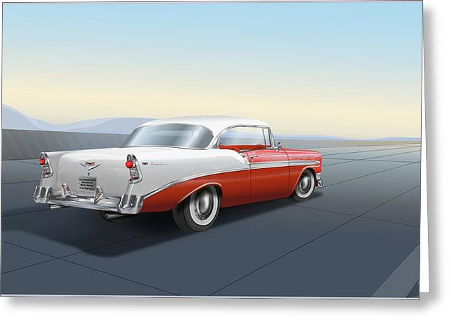 1956 Chevrolet Bel Air Greeting Card
