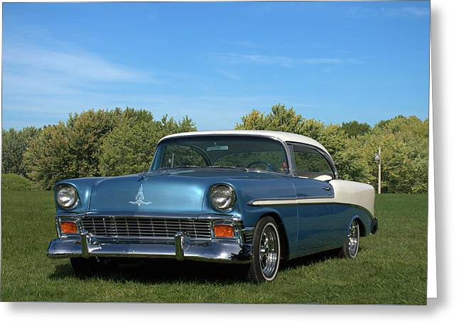Greeting Card featuring the photograph 1956 Chevrolet Belair by Tim McCullough