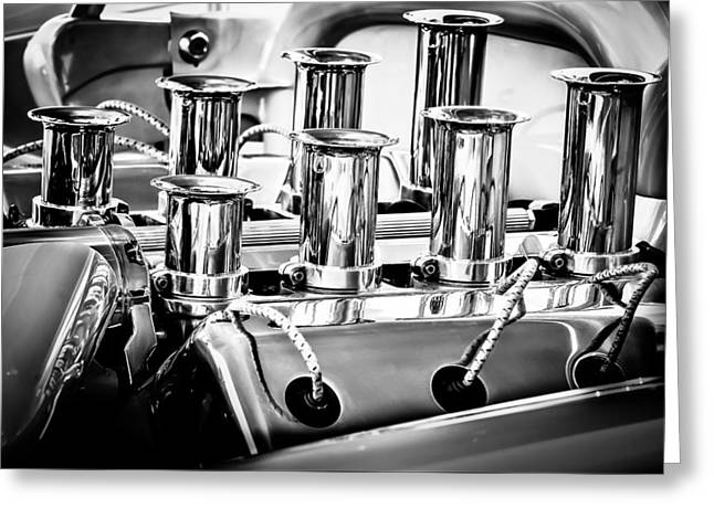 1956 Chrysler Hot Rod Engine Greeting Card