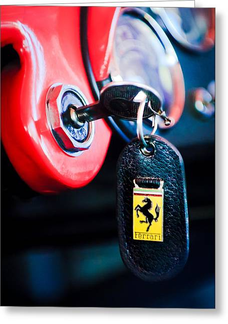 1956 Ferrari 500 Tr Testa Rossa Key Ring Greeting Card