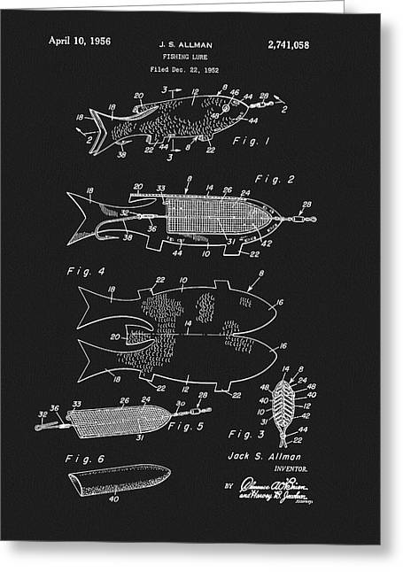 1956 Fishing Lure Patent Greeting Card