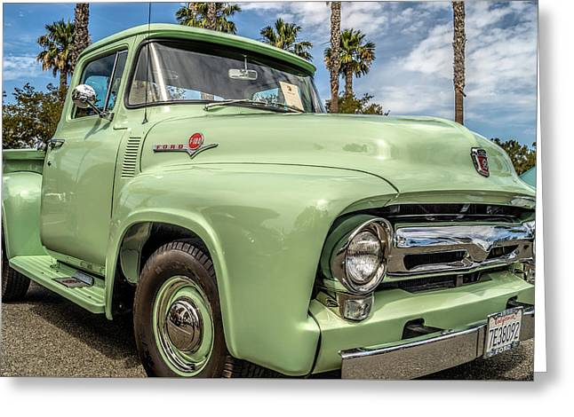 Greeting Card featuring the photograph 1956 Ford F-100 Pickup by Steve Benefiel