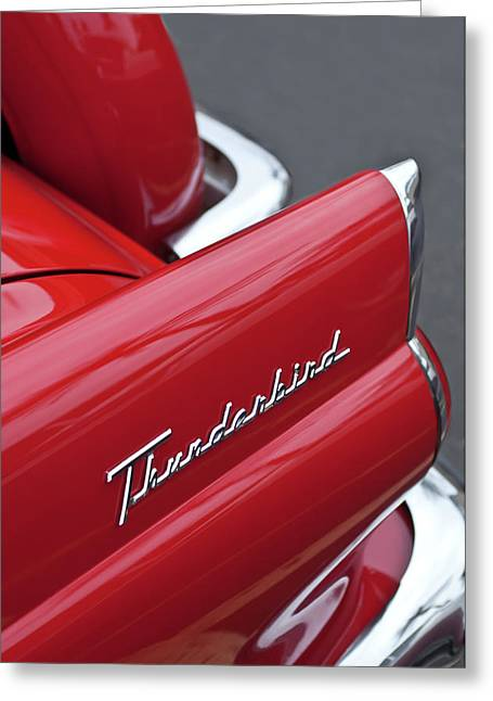 1956 Greeting Cards - 1956 Ford Thunderbird Taillight Emblem 2 Greeting Card by Jill Reger