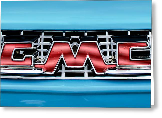 1956 Gmc 100 Deluxe Edition Pickup Truck  Grille Emblem -0584c Greeting Card by Jill Reger
