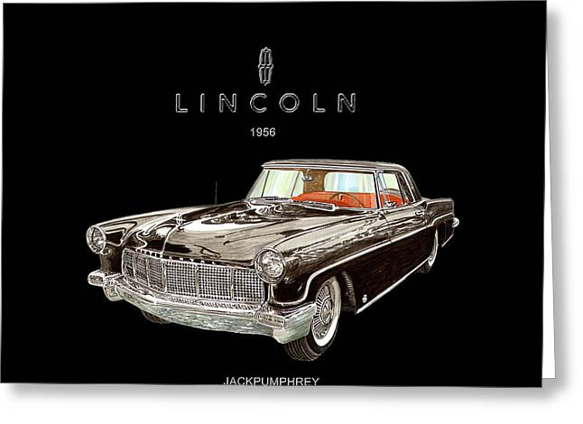 1956 Lincoln Continental M K I I  Greeting Card