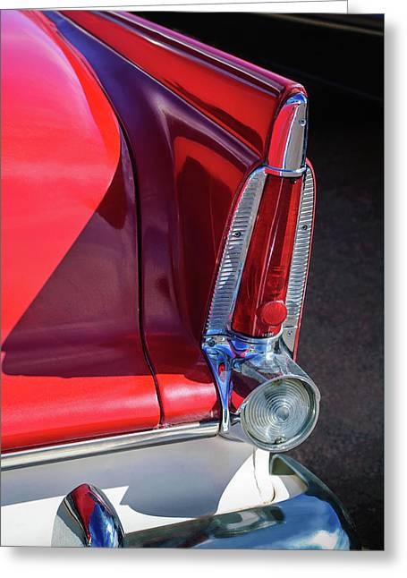1956 Plymouth Tail Light -ck0233c Greeting Card