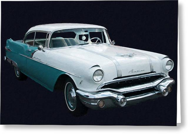 1956 Pontiac Star Chief Digital Oil Greeting Card