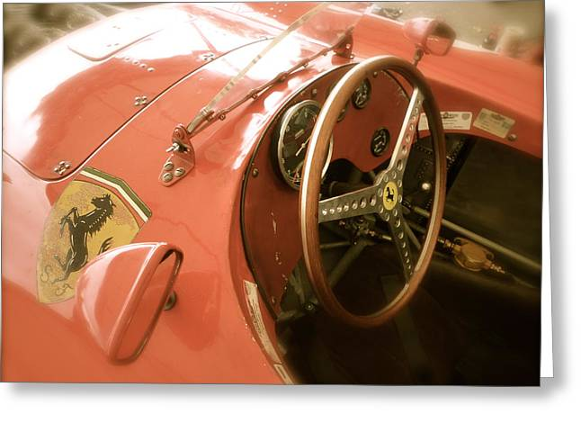 1956 Type Lancia Ferrari D50a Cockpit Greeting Card by John Colley