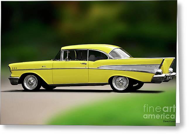 1957 Chevrolet Bel Air 'fuelie' Hardtop Greeting Card