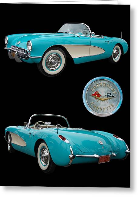 1957 Chevrolet Corvette Greeting Card