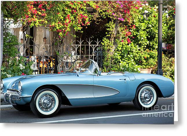 Greeting Card featuring the photograph 1957 Corvette by Brian Jannsen