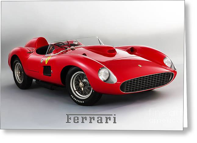 1957 Ferrari 335 S Spider Scaglietti. Greeting Card by Mohamed Elkhamisy