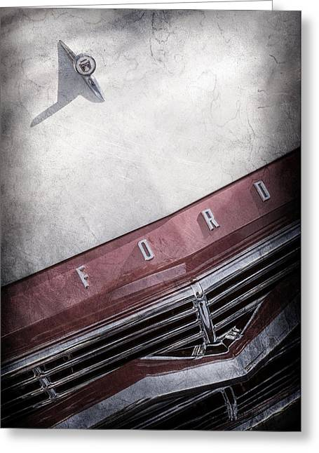 1957 Ford Custom 300 Series Ranchero Hood Ornament - Emblem -0477ac Greeting Card by Jill Reger