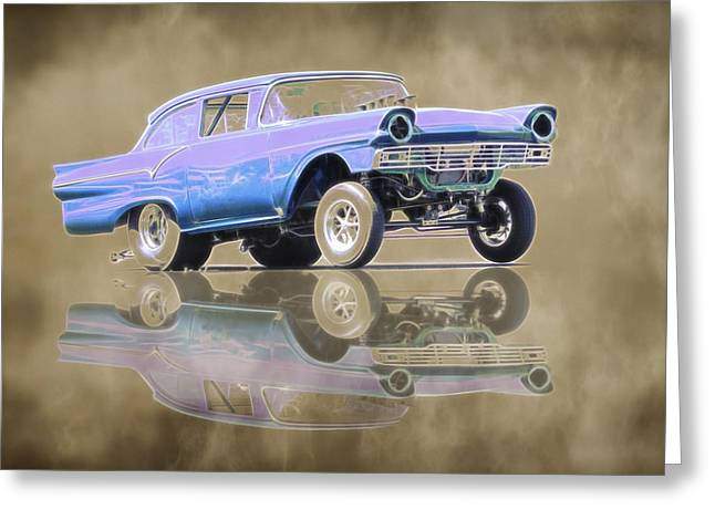 1957 Ford Gasser Greeting Card