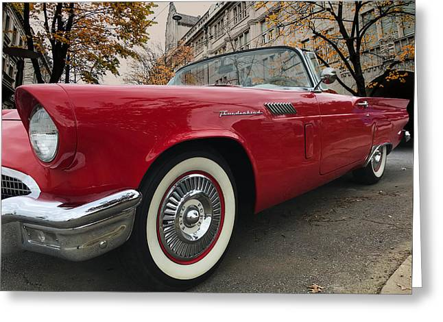 Greeting Card featuring the photograph 1957 Ford Thunderbird by Mark Guinn