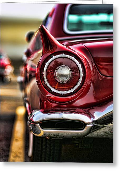 1957 Ford Thunderbird Red Convertible Greeting Card by Gordon Dean II