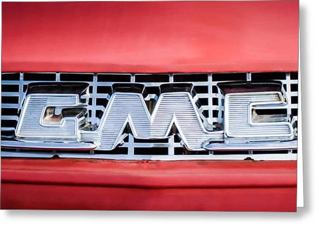 1957 Gmc Pickup Truck Grille Emblem -0329c2 Greeting Card by Jill Reger