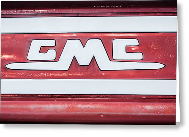 1957 Gmc Pickup Truck Tail Gate Emblem -0272c2 Greeting Card by Jill Reger