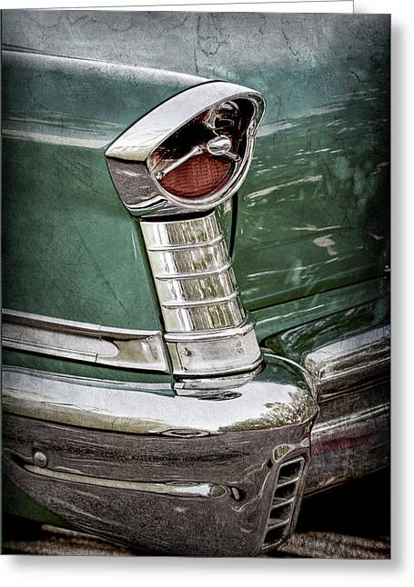 1957 Oldsmobile 98 Starfire Convertible Taillight -2912ac Greeting Card by Jill Reger