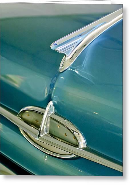Hoodies Greeting Cards - 1957 Oldsmobile Hood Ornament 5 Greeting Card by Jill Reger