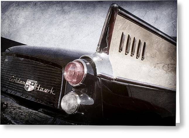 1957 Studebaker Golden Hawk Supercharged Sports Coupe Taillight Emblem -0733ac Greeting Card