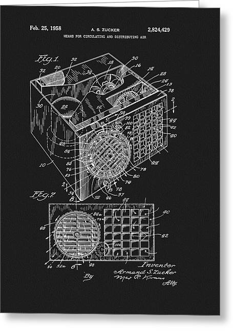 1958 Air Conditioner Patent Greeting Card