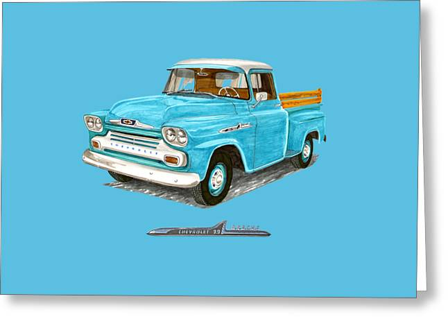 1958 Apache Pick Up Truck Greeting Card