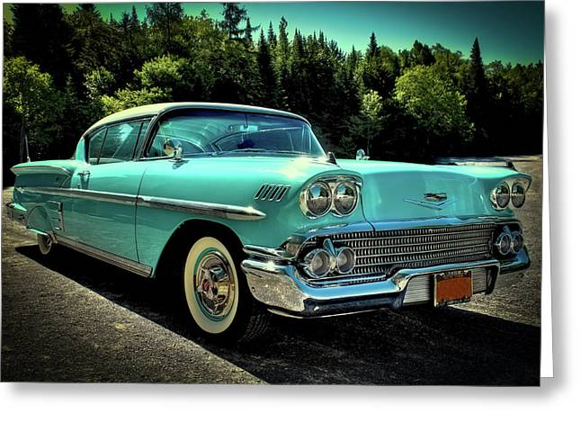 1958 Chevrolet Impala Greeting Card