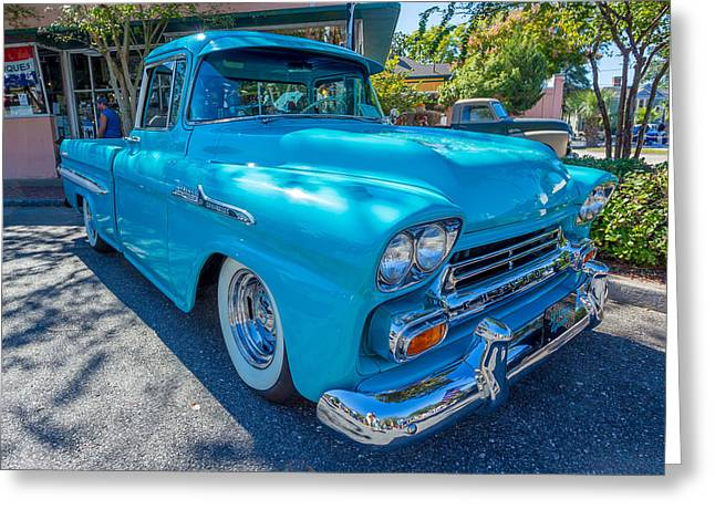 1958 Chevy Apache Greeting Card by Gestalt Imagery