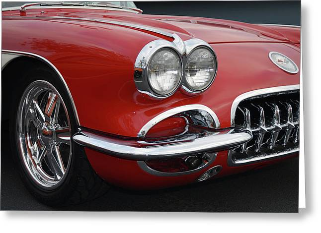 1958 Corvette Classic Greeting Card by Bill Dutting