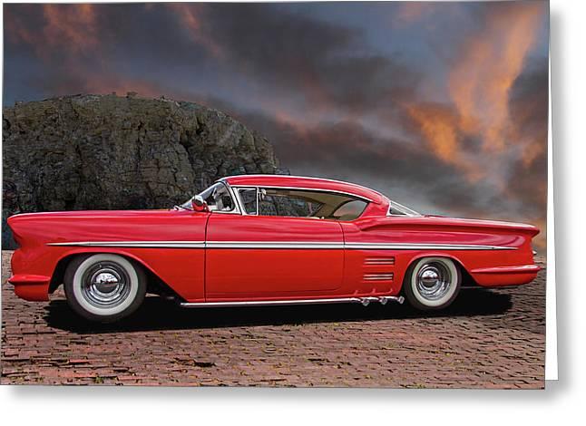 1958 Customized Chevrolet Impala 2 Greeting Card