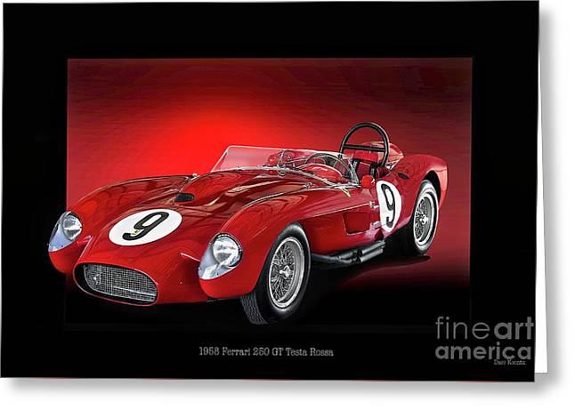 1958 Ferrari 250 Gt Testa Rossa 'studio' Greeting Card