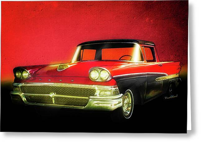 1958 Ford Ranchero 1st Generation Greeting Card