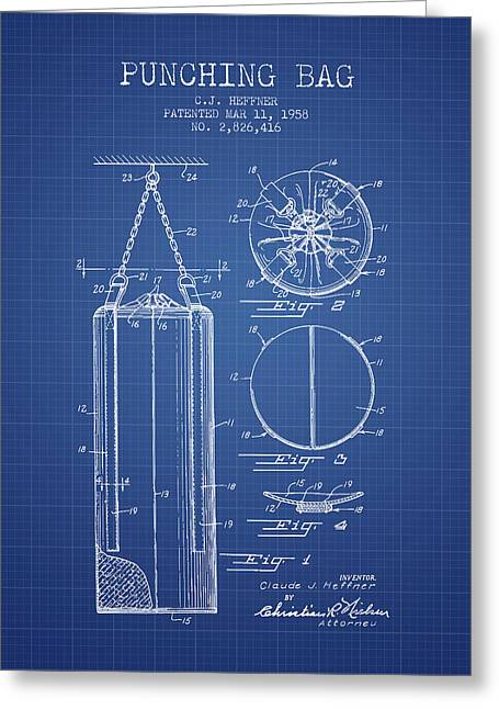 1958 Punching Bag Patent Spbx14_bp Greeting Card