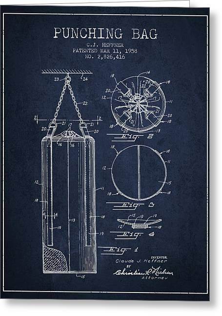 1958 Punching Bag Patent Spbx14_nb Greeting Card
