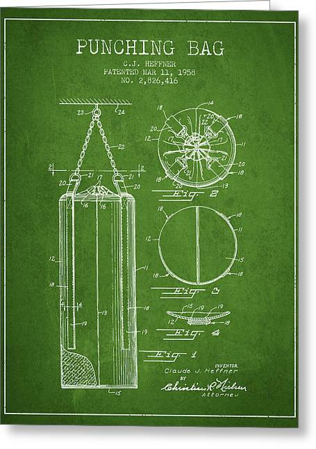1958 Punching Bag Patent Spbx14_pg Greeting Card