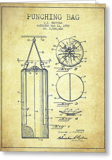1958 Punching Bag Patent Spbx14_vn Greeting Card