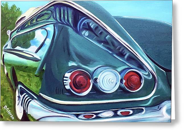 1958 Reflections Greeting Card