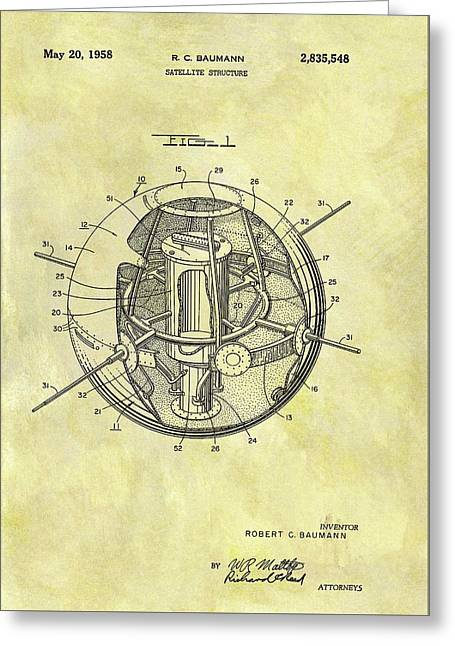 1958 Satellite Patent Greeting Card by Dan Sproul