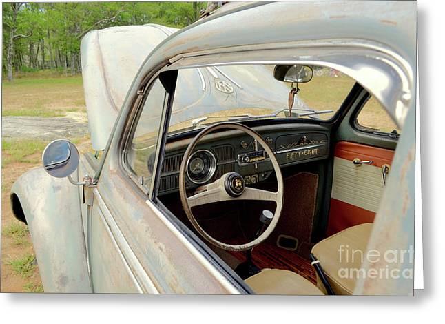 1958 Volkswagen Beetle Greeting Card by Jason Freedman