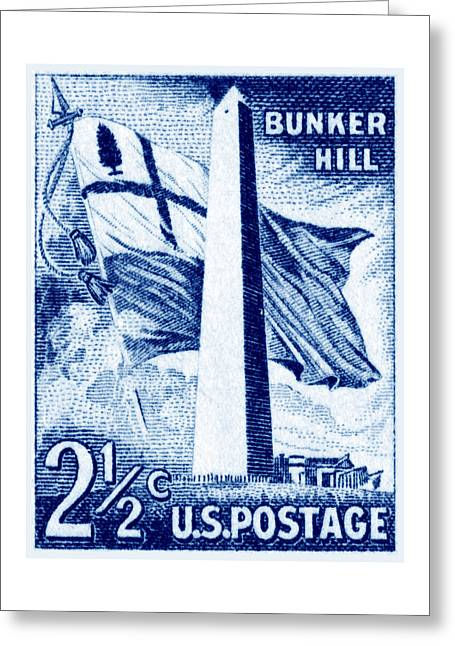 1959 Bunker Hill Stamp Greeting Card by Historic Image