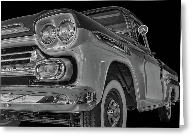 1959 Chevrolet Apache - Bw Greeting Card