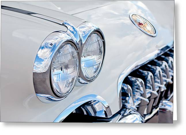 1959 Chevrolet Corvette Grille Greeting Card by Jill Reger