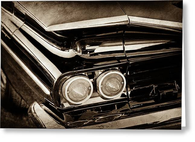1959 Chevrolet El Camino Taillights -0463s Greeting Card by Jill Reger