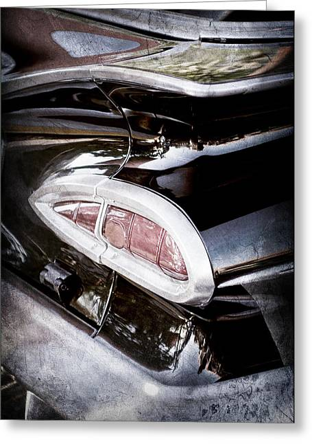 1959 Chevrolet Impala Taillight -0103ac Greeting Card by Jill Reger