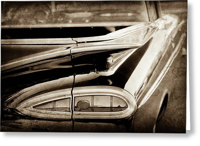 1959 Chevrolet Impala Taillight -0418s Greeting Card by Jill Reger